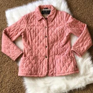 Barbour Pink Quilted Microfiber Jacket US8